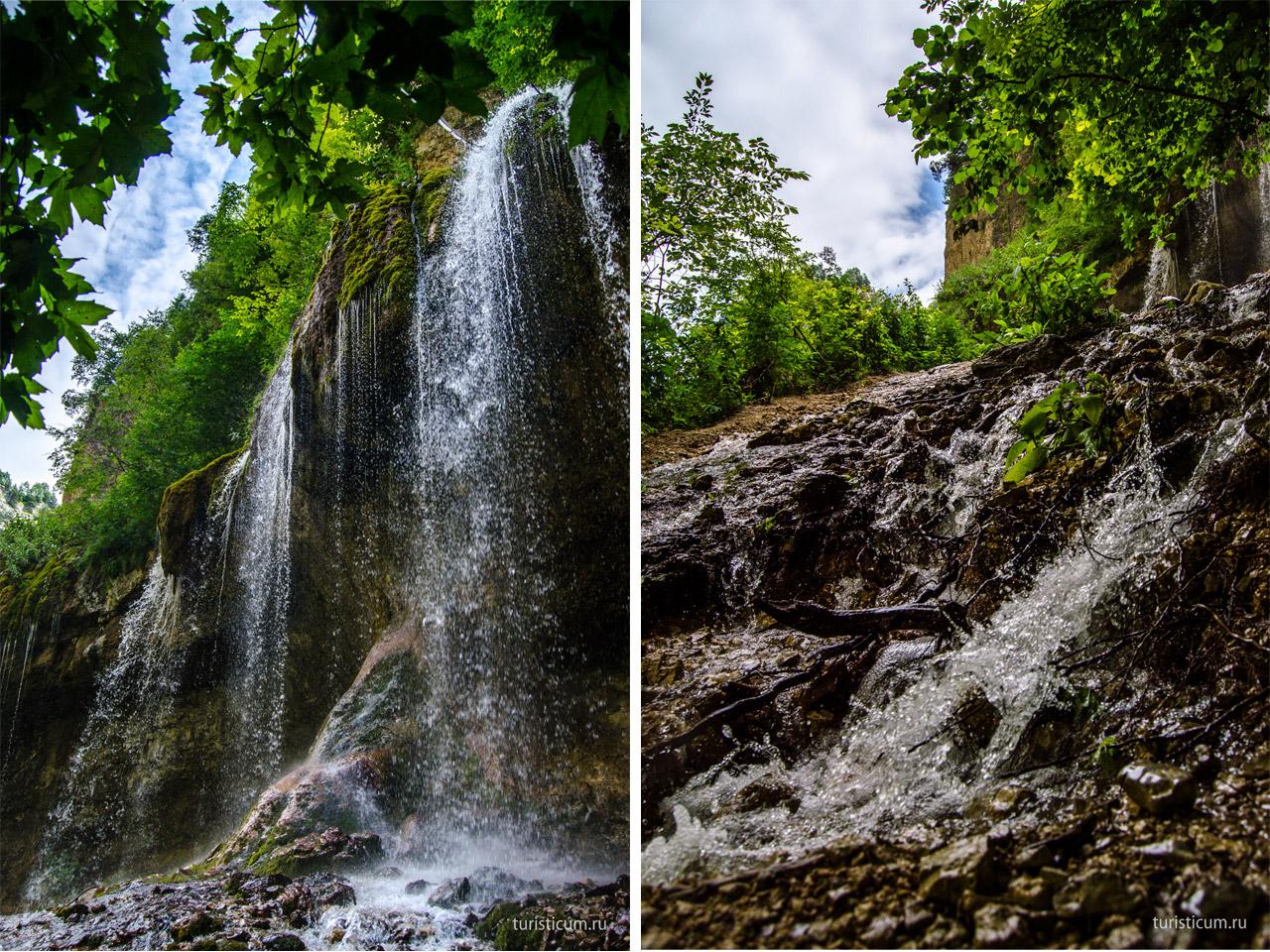 Чегемский водопад схема