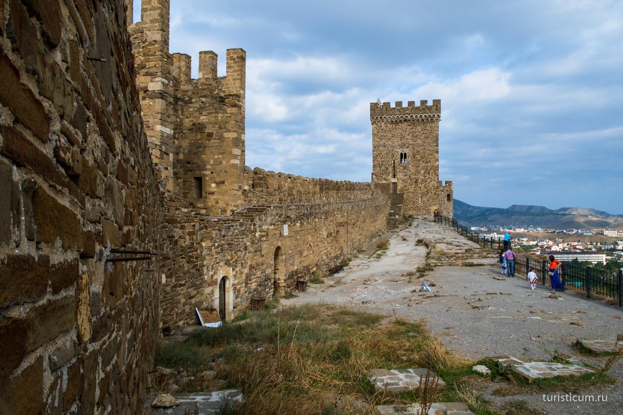 Генуэзская крепость в судаке схема