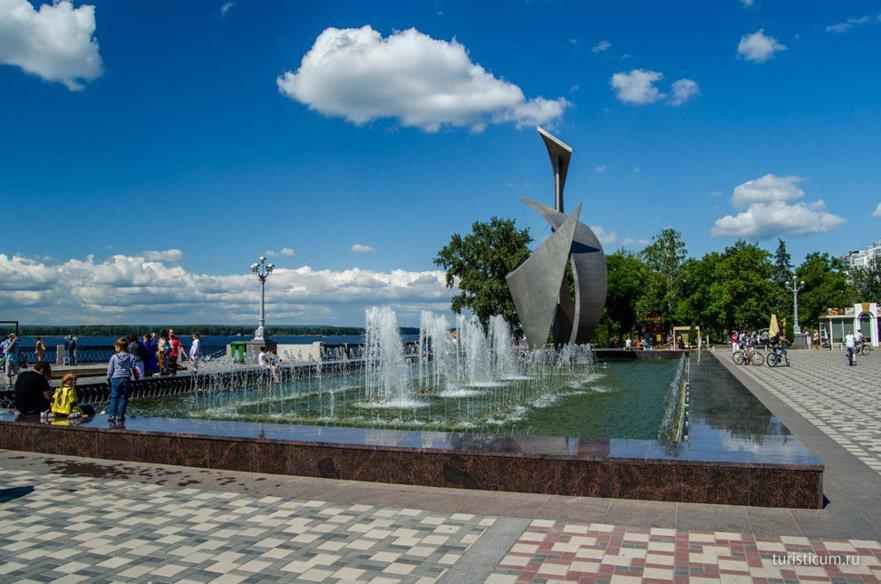 фонтан на набережной Самары