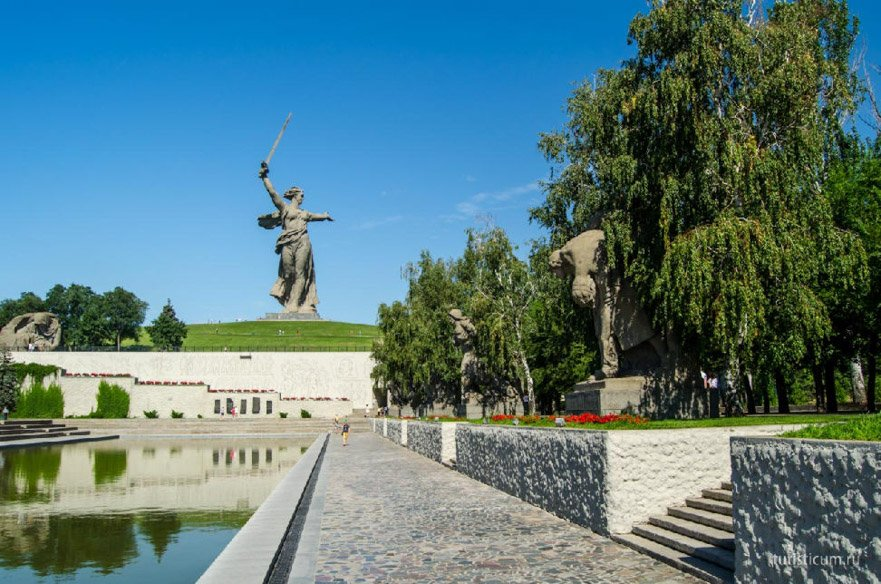 The Heroes Square on Mamaev Kurgan