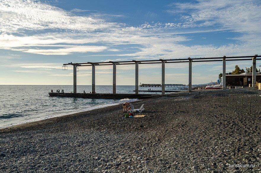 городской пляж Чайка