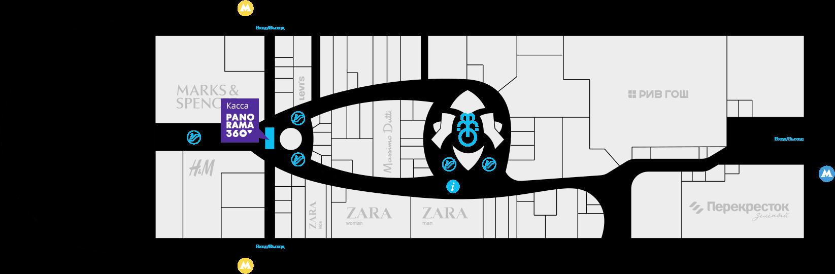 Карта проезда до Смотровой площадки